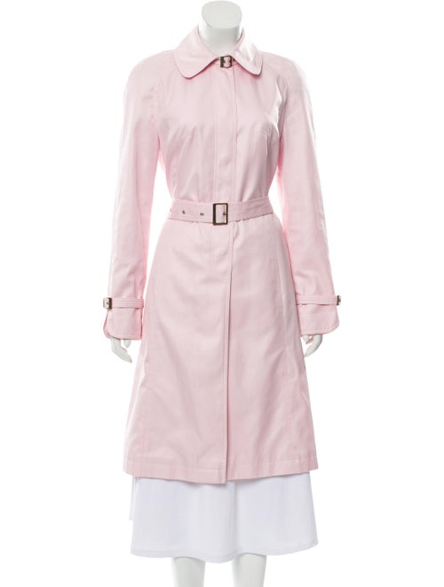 Escada Belted Long Coat Pink - image 1
