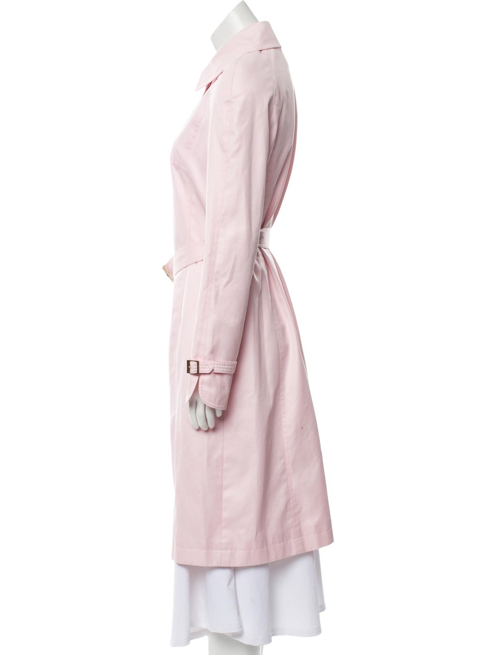 Escada Belted Long Coat Pink - image 2