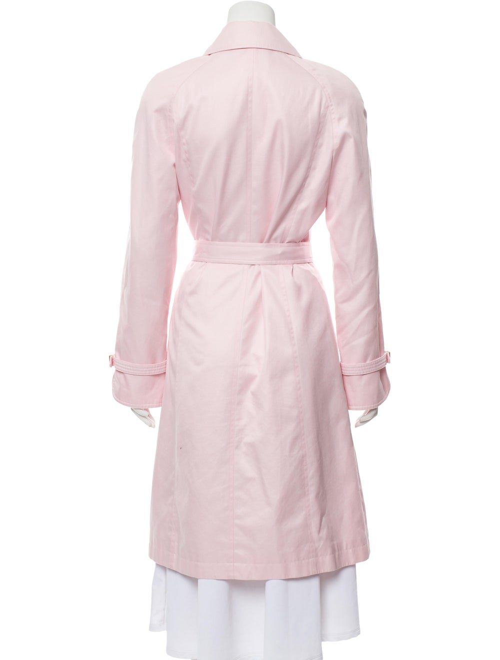 Escada Belted Long Coat Pink - image 3