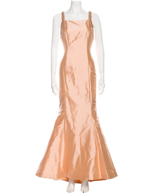 Escada Silk Long Dress Orange