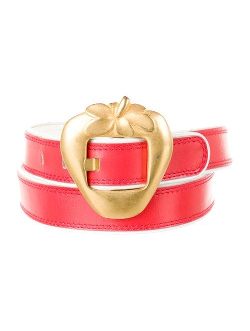 Escada Leather Buckle Belt Red