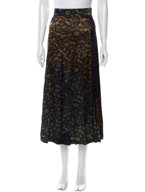 Escada Silk Midi Length Skirt Purple