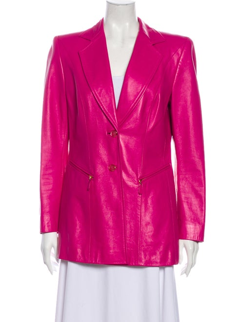 Escada Lamb Leather Blazer Pink