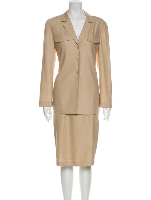 Escada Wool Skirt Suit Wool