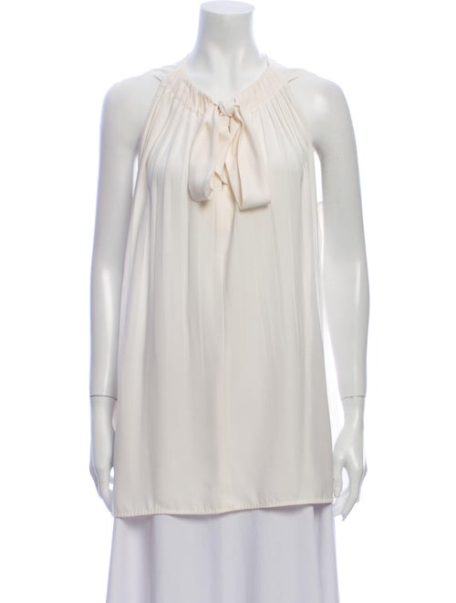 Escada Tie Neck Sleeveless Blouse