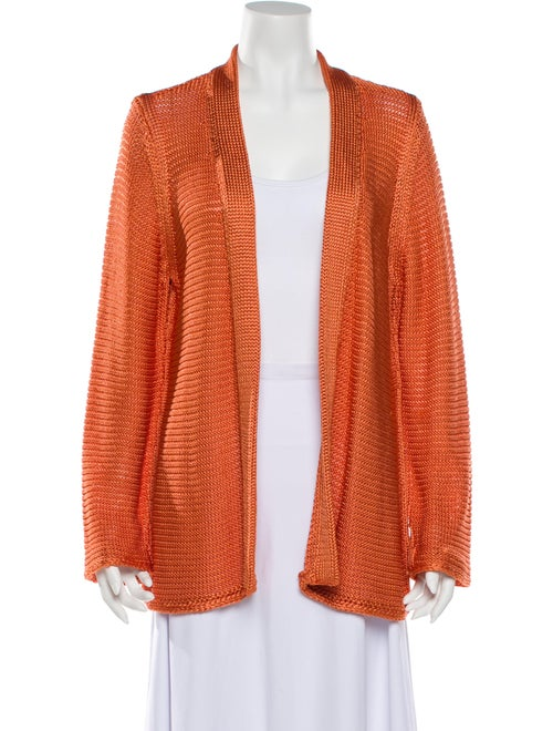 Escada Open Front Sweater Orange