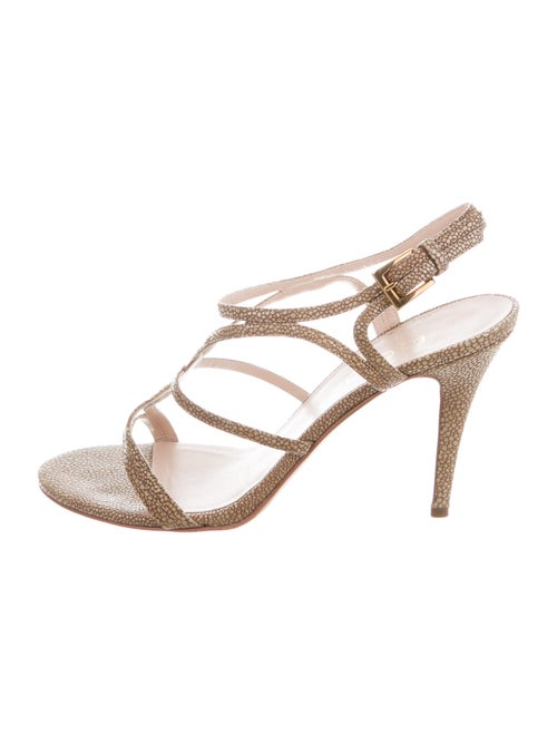Escada Suede Slingback Sandals