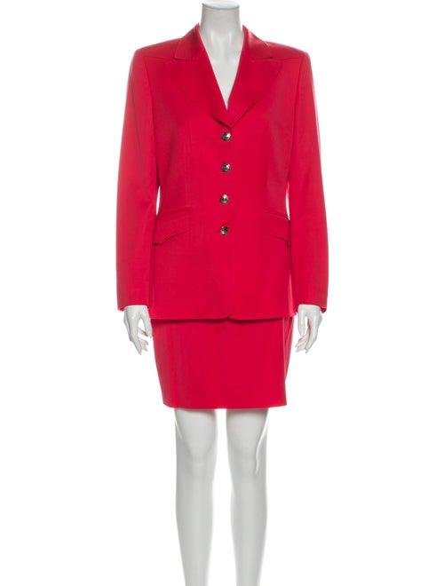 Escada Virgin Wool Skirt Suit Wool