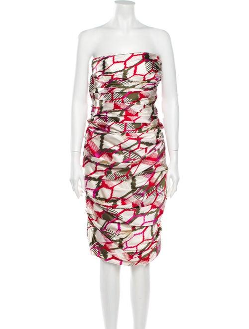 Escada Silk Mini Dress White