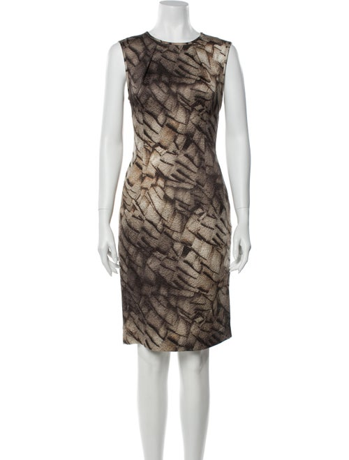 Escada Printed Knee-Length Dress