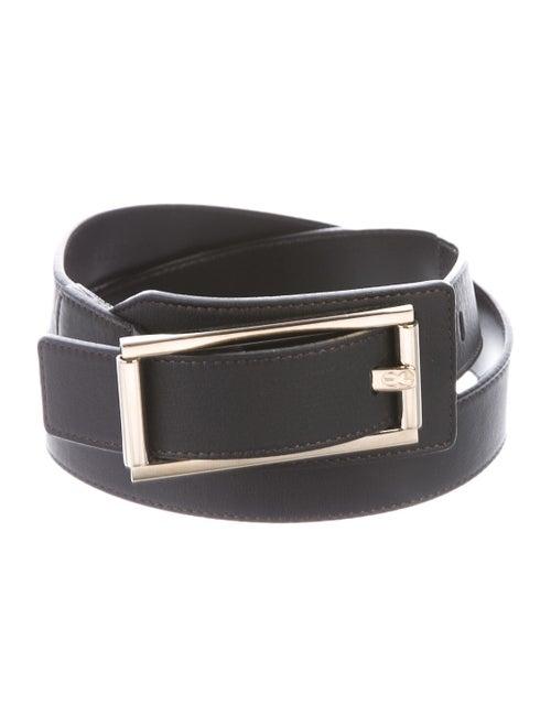 Escada Leather Buckle Belt Black