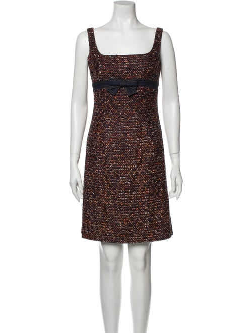 Escada Tweed Pattern Dress Set Blue