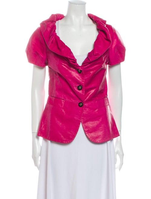 Escada Leather Evening Jacket Pink