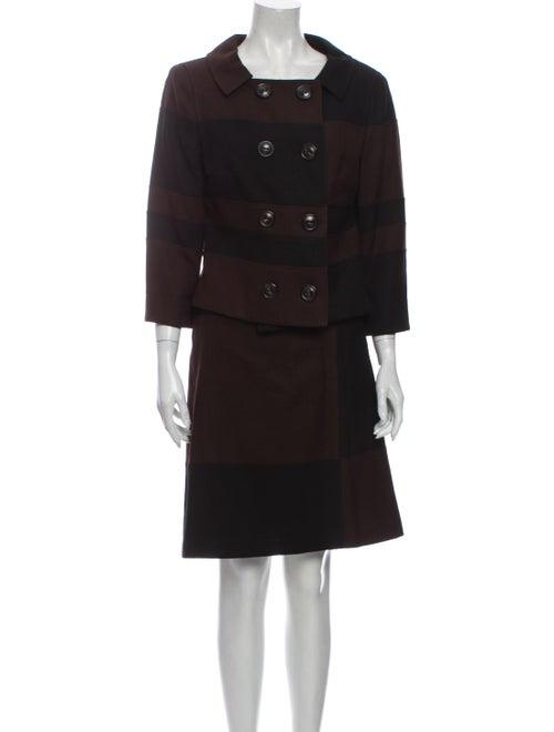Escada Skirt Suit Brown