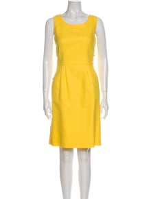 Escada Scoop Neck Knee-Length Dress w/ Tags