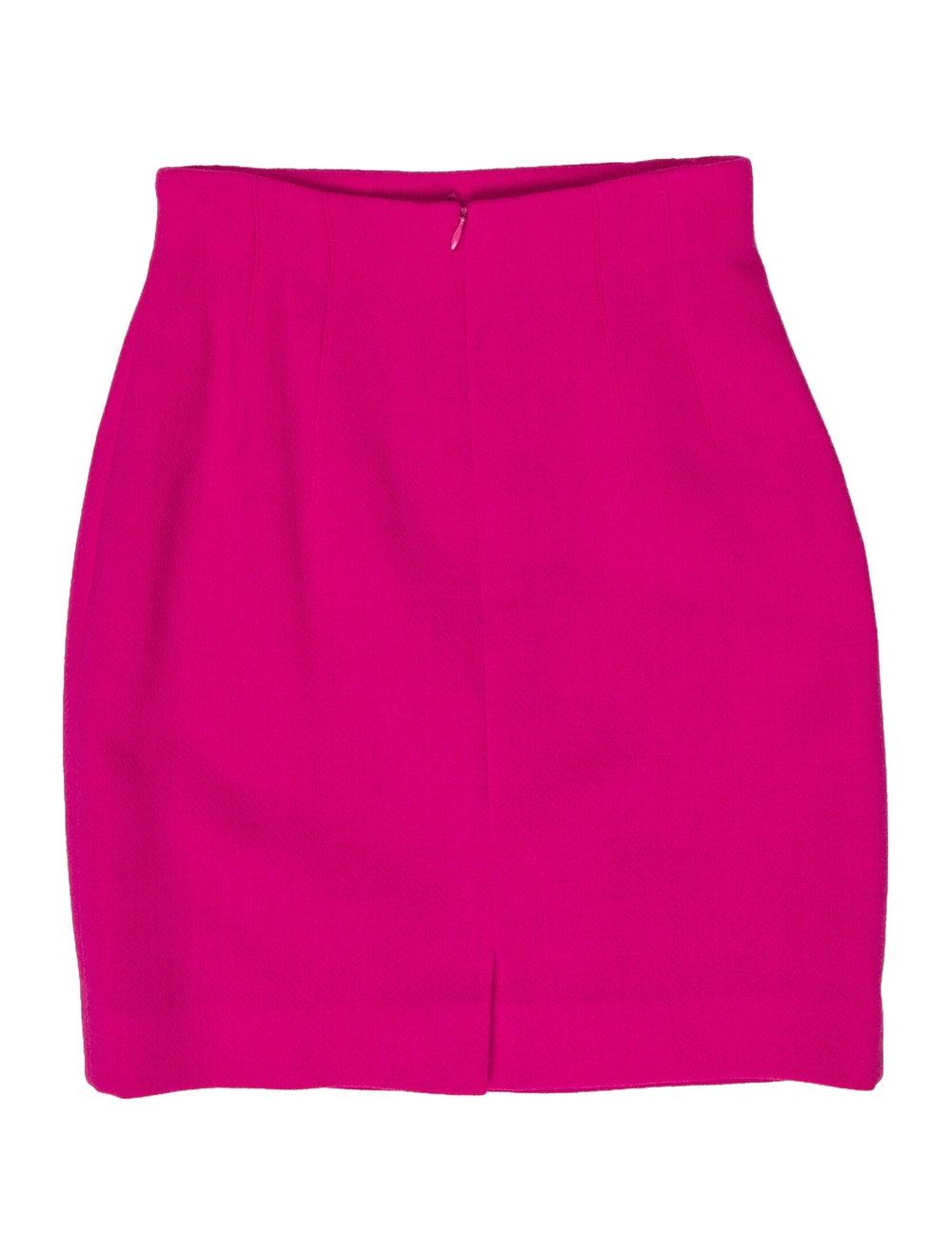 Escada Vintage Mini Skirt Wool - image 1