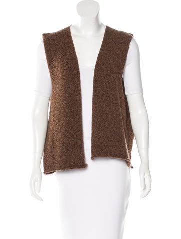 Eskandar Wool Open Front Vest
