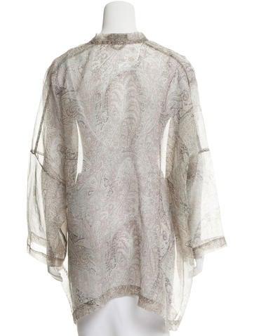 Abstract Print Silk Kimono