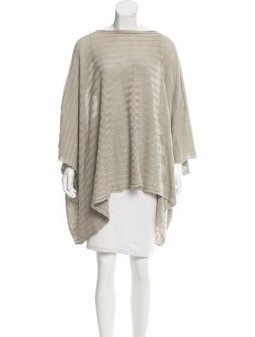 Eskandar Rib Knit Linen Poncho w/ Tags None