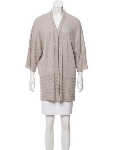 Eskandar Mélange Linen-Blend Sweater w/ Tags None