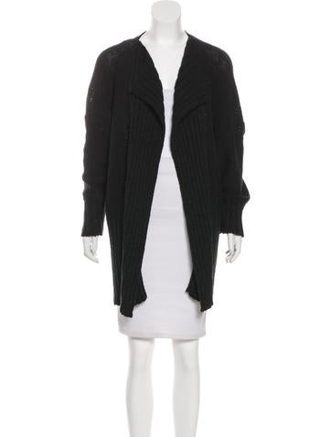 Eskandar Rib Knit Open-Front Cardigan None