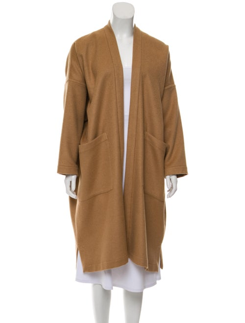 Eskandar Open Front Camel Coat