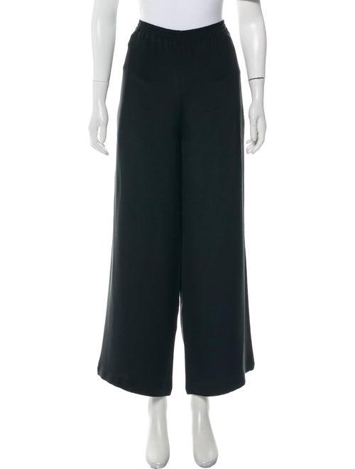 Eskandar Silk High-Rise Lounge Pants Black