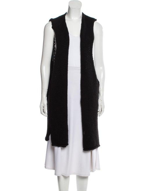 Eskandar Wool Sweater Vest Black