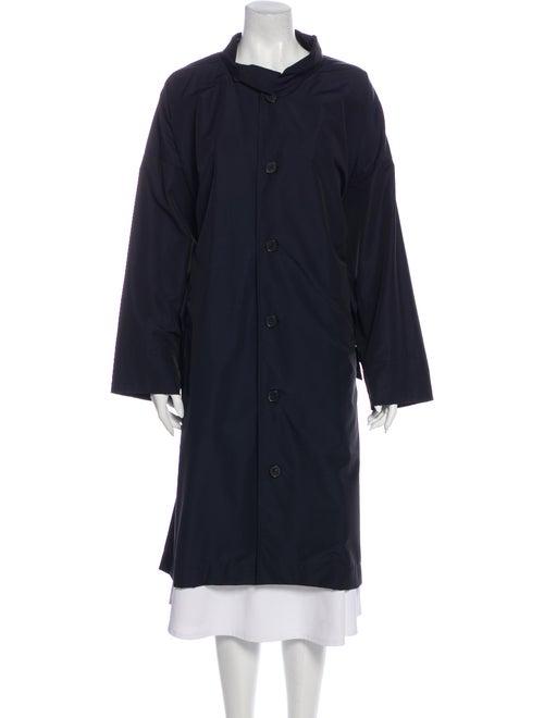 Eskandar Trench Coat Blue