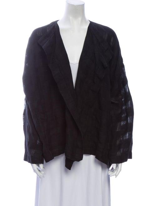Eskandar Linen Jacket Black