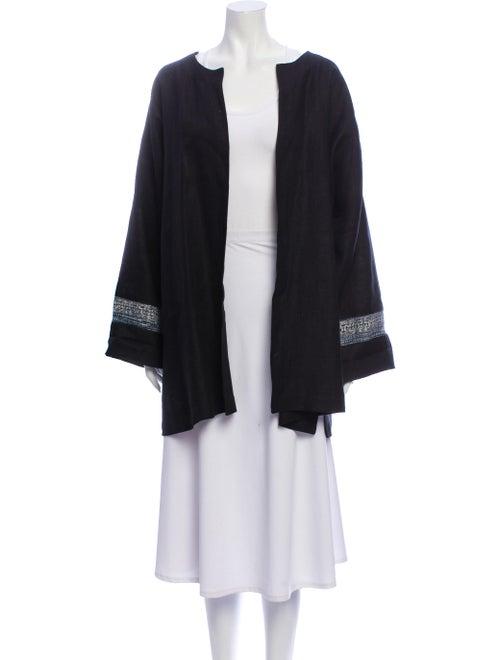 Eskandar Linen Evening Jacket Black