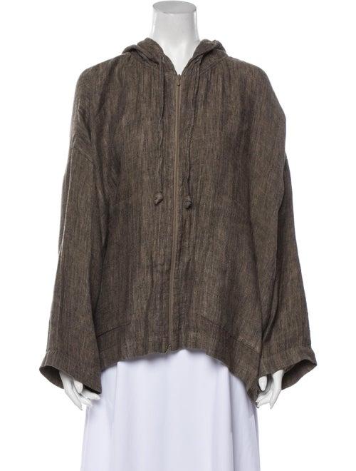 Eskandar Linen Jacket Brown
