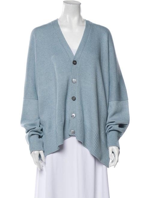 Eskandar V-Neck Sweater Blue