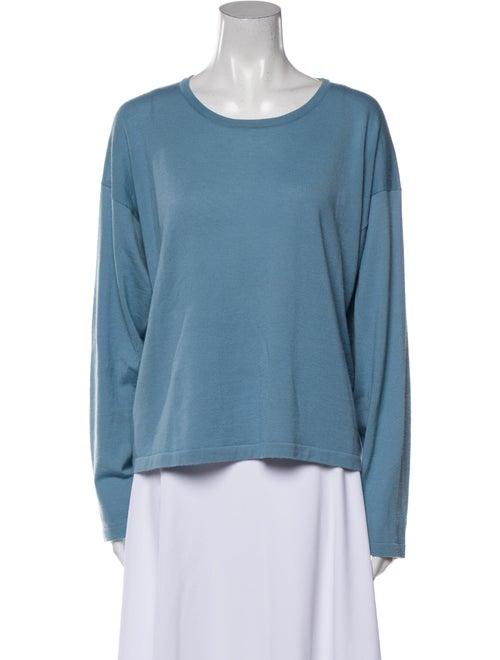 Eskandar Cashmere Scoop Neck Sweater Blue