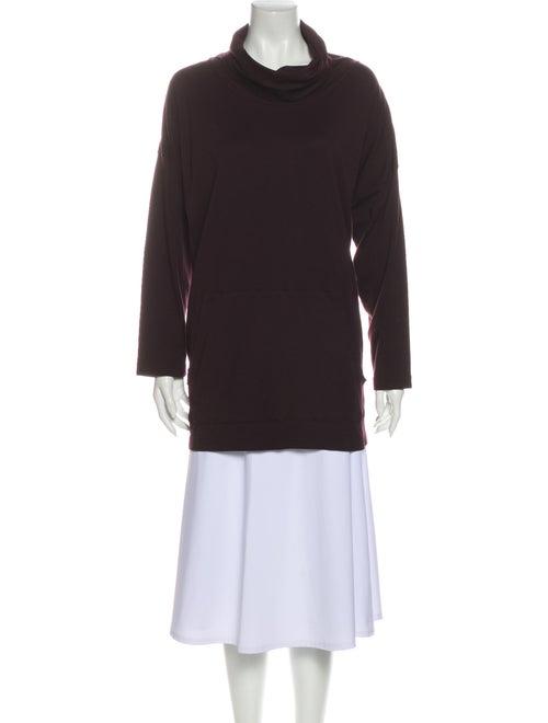 Eskandar Mock Neck Long Sleeve Sweatshirt