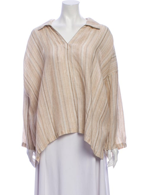 Eskandar Linen Striped Blouse