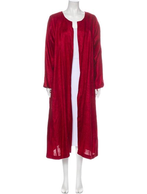 Eskandar Linen Coat Red