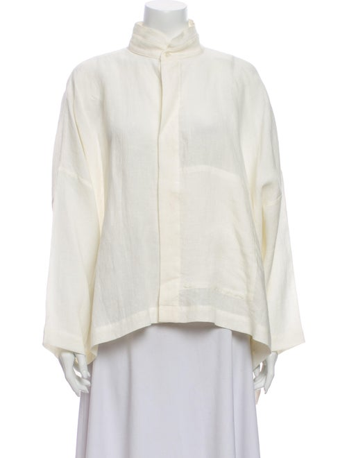 Eskandar Linen Mock Neck Sweatshirt - image 1