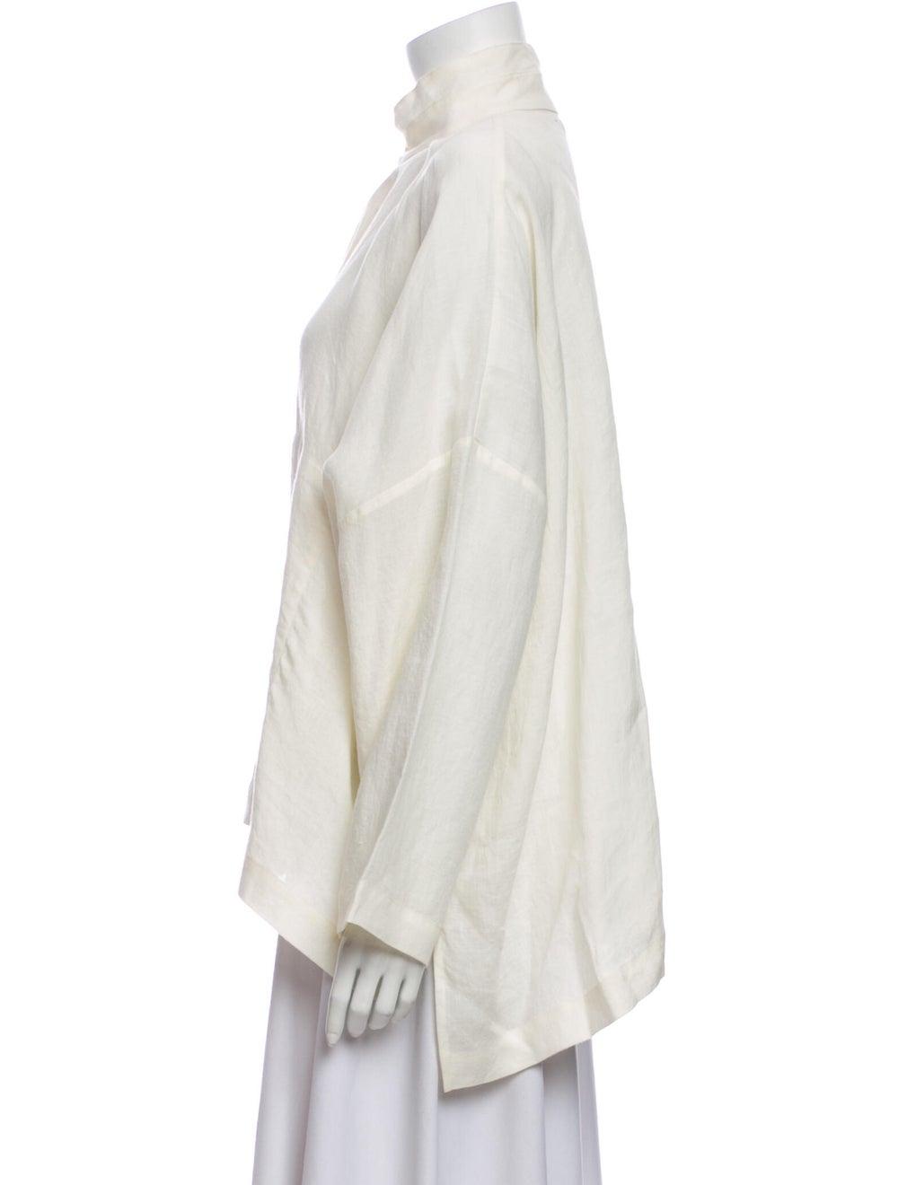 Eskandar Linen Mock Neck Sweatshirt - image 2