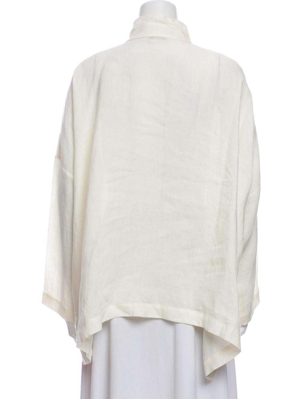 Eskandar Linen Mock Neck Sweatshirt - image 3