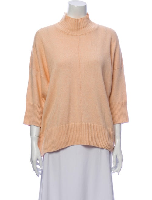 Eskandar Mock Neck Sweater Pink