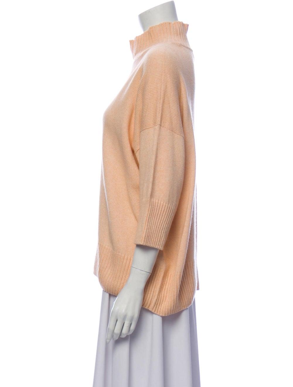 Eskandar Mock Neck Sweater Pink - image 2