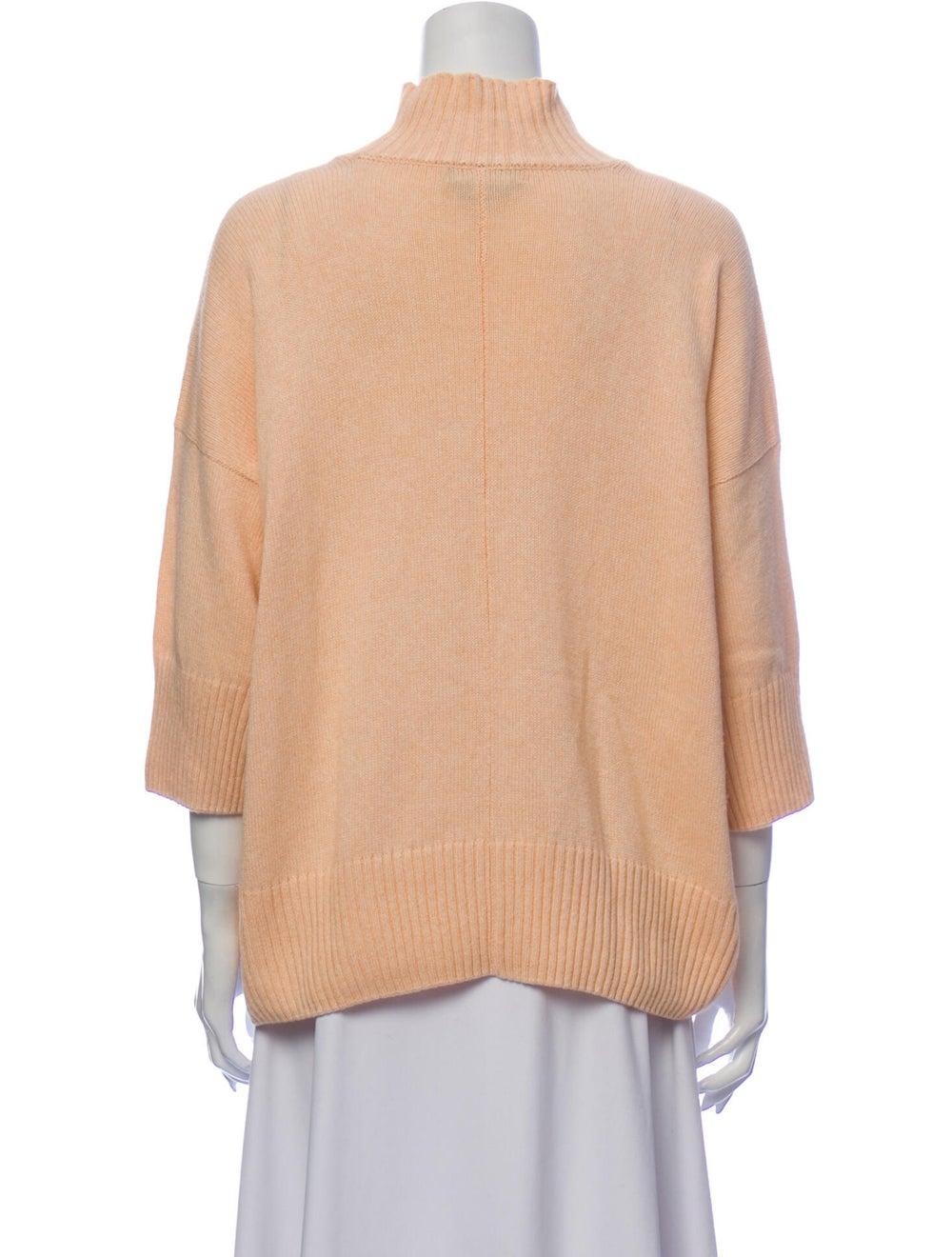 Eskandar Mock Neck Sweater Pink - image 3