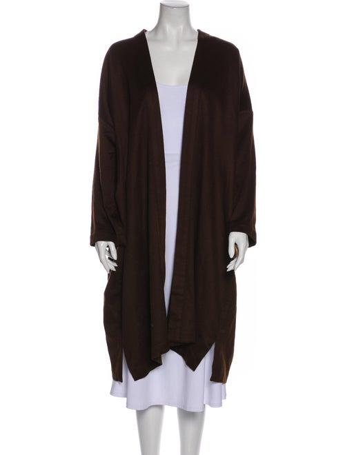 Eskandar Cashmere Open Front Sweater Brown