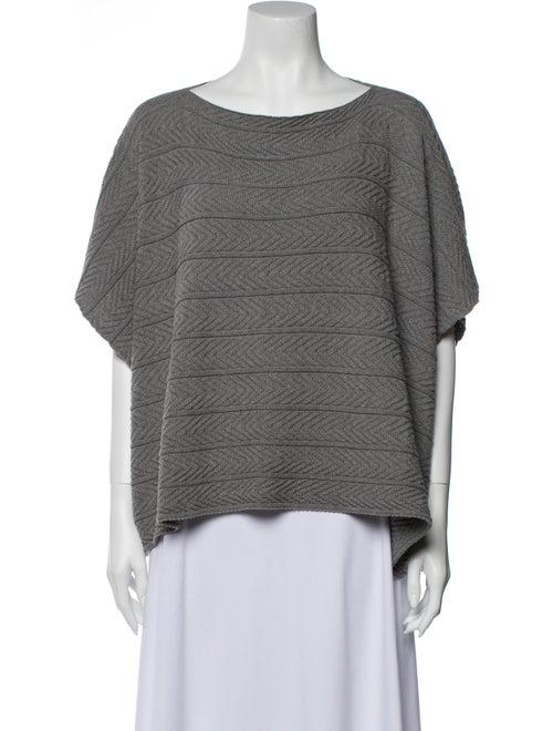 Eskandar Scoop Neck Sweater Grey