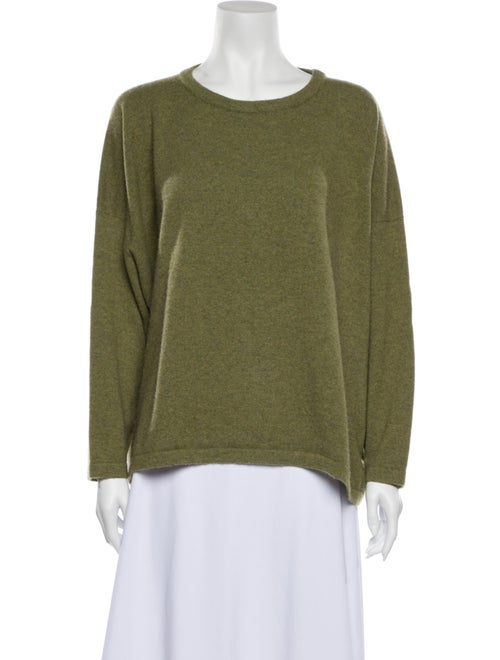 Eskandar Cashmere Scoop Neck Sweater Green