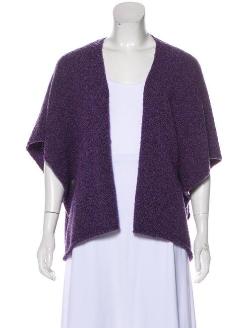 Eskandar Asymmetrical Wool Poncho Purple
