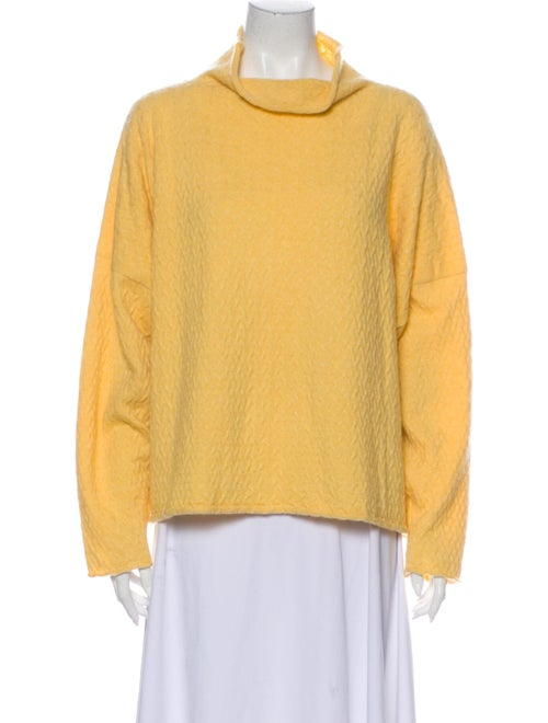Eskandar Cashmere Mock Neck Sweater Yellow