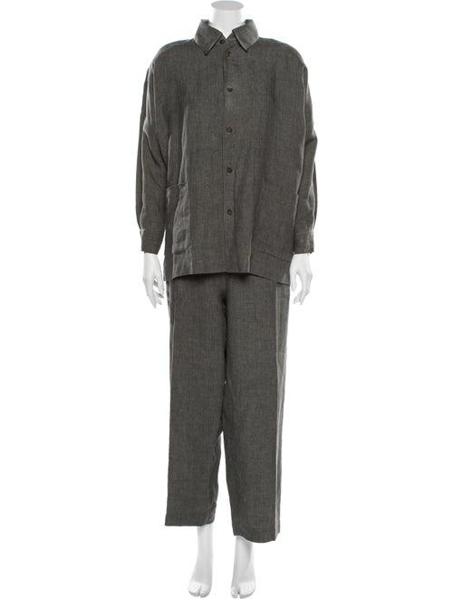 Eskandar Linen Pant Set Grey