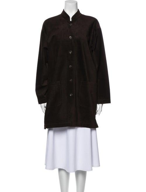 Eskandar Leather Coat Brown